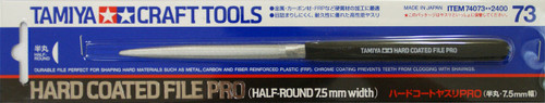 Tamiya 74073 Craft Tools - Hard Coated File Pro (Half-Round 7.5mm width)