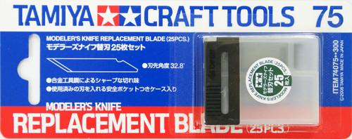 Tamiya 74075 Craft Tools - Modeler's Knife Replacement Blade (25 Pcs.)