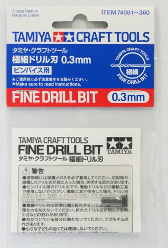 Tamiya 74081 Craft Tools - Fine Drill Bit 0.3 mm