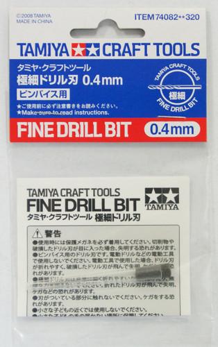 Tamiya 74082 Craft Tools - Fine Drill Bit 0.4 mm