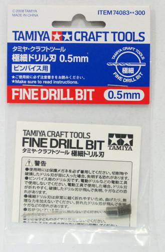 Tamiya 74083 Craft Tools - Fine Drill Bit 0.5 mm
