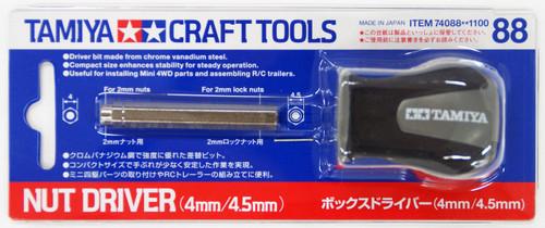 Tamiya 74088 Craft Tools - Nut Driver (4mm/4.5mm)