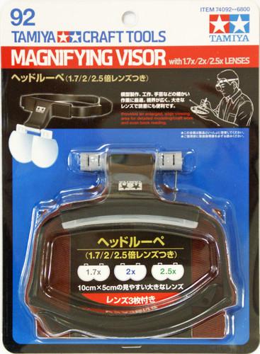 Tamiya 74092 Craft Tools - Magnifying Visor with 1.7x / 2x / 2.5x Lenses