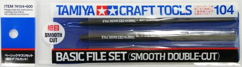 Tamiya 74104 Craft Tools - Basic File Set - Smooth Double-Cut
