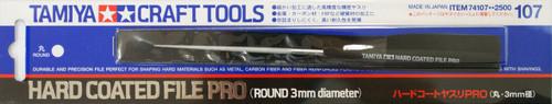 Tamiya 74107 Craft Tools - Hard Coated File Pro (Round 3mm diameter)