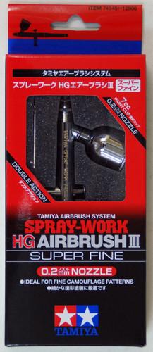 Tamiya 74545 Spray-Work HG AIRBRUSH III Super Fine (0.2mm nozzle)