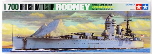 Tamiya 77502 British Battleship RODNEY 1/700 Scale Kit