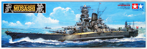 Tamiya 78031 Japanese Battleship MUSASHI 1/350 Scale Kit