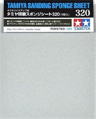Tamiya 87163 Sanding Sponge Sheet 320