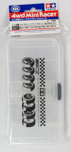 Tamiya 95017 Mini 4WD Tire Storage Box Set (2014)