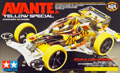 Tamiya 95060 Mini 4WD Avante Jr. Yellow Special Clear Body (VS CHassis) 1/32
