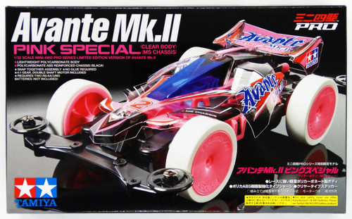 Tamiya 95061 Mini 4WD Avante Mk.II Pink Special Clear Body (MS Chassis) 1/32