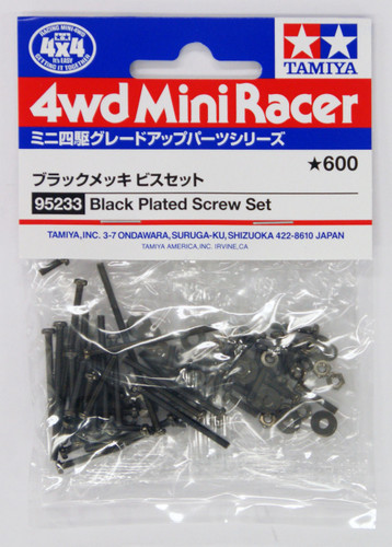 Tamiya 95233 Mini 4WD Black Plated Screw Set