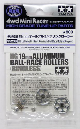 Tamiya 95238 Mini 4WD HG Light Weight 19mm Aluminum Ball-Race Rollers (Ringless)