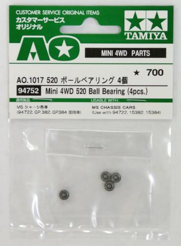 Tamiya AO-1017 Mini 4WD 520 Ball Bearing Set 4 pcs (94752)