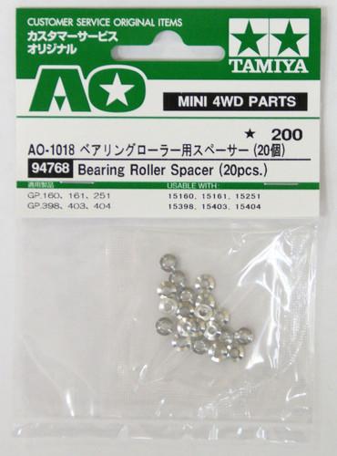 Tamiya AO-1018 Mini 4WD Bearing Roller Spacer (20 pcs.) (94768)