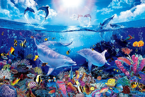 Epoch Jigsaw Puzzle 23-711 Lassen Day of the Dolphins (2016 S-Pieces)
