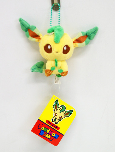 Pokemon Center Original Mocchiri Mascot Pokemon Dolls Leafeon 513-215372