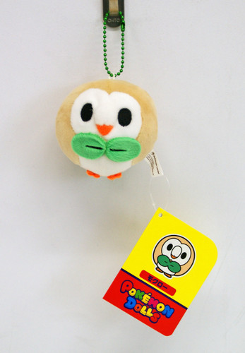 Pokemon Center Original Mocchiri Mascot Pokemon Dolls Rowlet (Mokuroh)