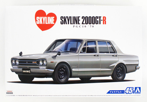 Aoshima 53461 The Model Car 45 Nissan PGC10 Skyline 2000GT-R '70 1/24 scale kit