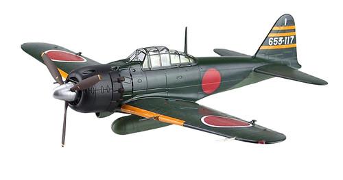 Aoshima 83864 Diecast Model 03 A6M5 Type Zero Model52 No. 653 1/48 scale