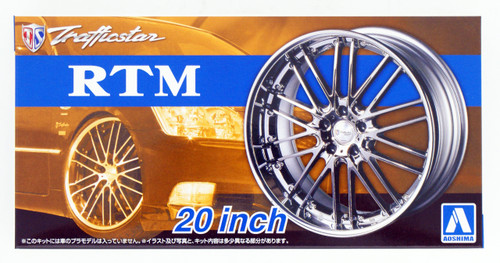 Aoshima 53713 Tuned Parts 38 1/24 Trafficstar RTM 20inch Tire & Wheel Set