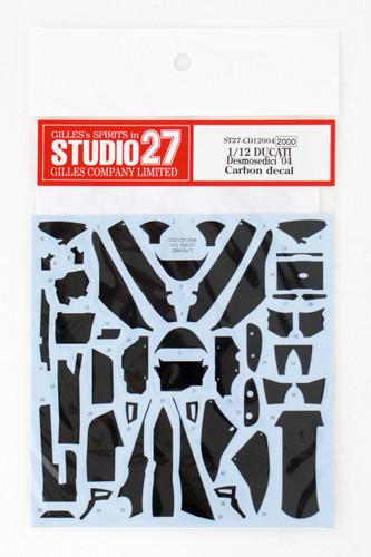 Studio27 ST27-CD12004 DUCATI Desmosedici '04 Carbon decal for Tamiya 1/12
