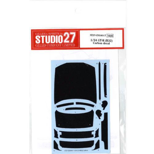 Studio27 ST27-CD24017 Nissan GT-R (R32) Carbon Decal Set for Tamiya 1/24