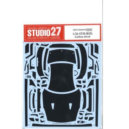 Studio27 ST27-CD24018 Nissan GT-R (R35) Carbon Decal Set for Tamiya 1/24
