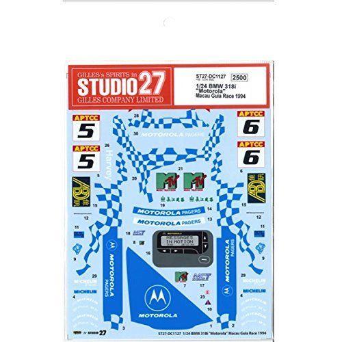 "Studio27 ST27-DC1127 BMW 318i ""Motorola"" Macau Guia Race 1994 Decal 1/24"
