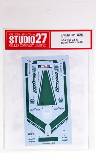 Studio27 ST27-DC1181 Nissan R35 GT-R Dubai Police Decal for Aoshima 1/24