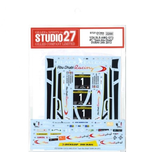 Studio27 ST27-DC984 Mercedes-Benz SLS AMG GT3 #1 Decal for Fujimi 1/24