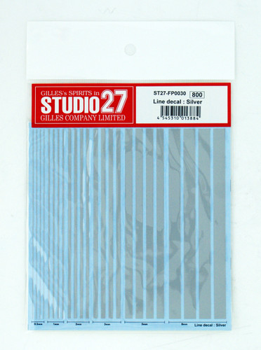 Studio27 ST27-FP0030 Line Decal : Silver