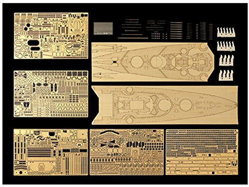Tamiya 25181 Bismarck 1941 Detail Up Photo Etched Parts 1/350 Scale