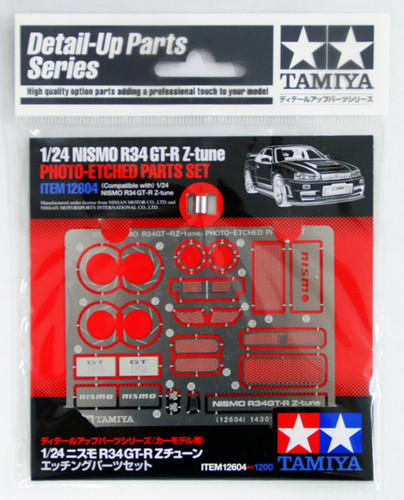 Tamiya 12604 NISMO R34 GT-R Z-tune Photo-Etched Parts Set 1/24 Scale