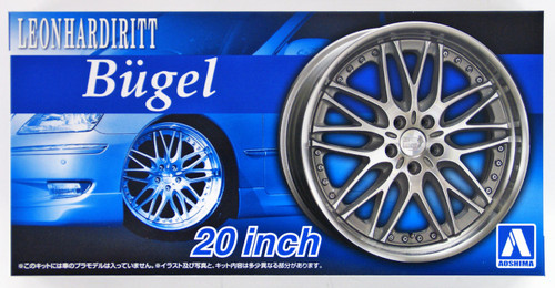 Aoshima 53829 Tuned Parts 49 1/24 LEONHARDIRITT BUGEL 20inch Tire & Wheel Set
