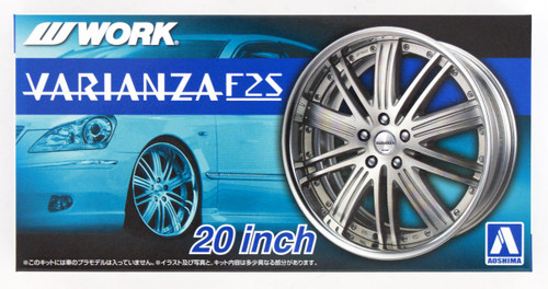 Aoshima 53836 Tuned Parts 50 1/24 WORK VARIANZA F2S 20inch Tire & Wheel Set