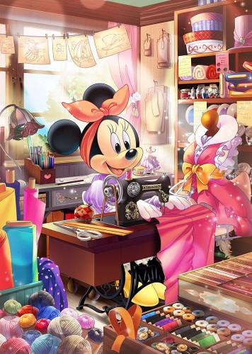 Tenyo Japan Jigsaw Puzzle D-500-475 Disney Tailor Minnie Mouse (500 Pieces)