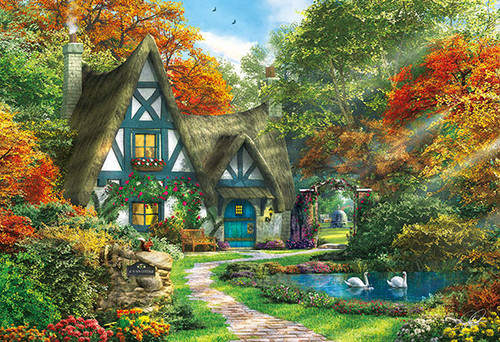 APPLEONE Jigsaw Puzzle 300-329 Dominic Davison Autumn Tiny Cottage (300 Pieces)