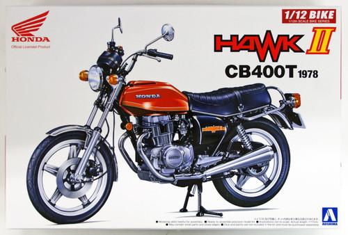 Aoshima 53966 Bike 42 HONDA HAWK II CB400T 1/12 scale kit