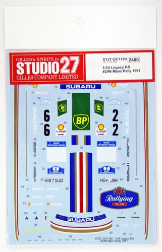Studio27 ST27-DC1190 Legacy RS #2/#6 Manx Rally 1991 Decal for Hasegawa 1/24