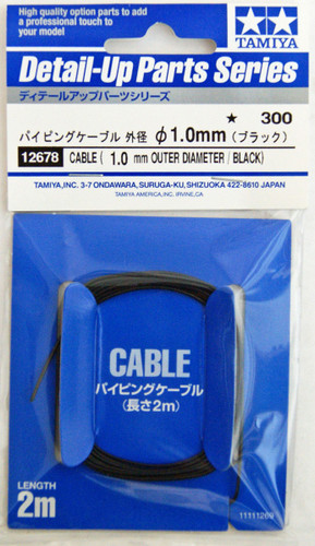 Tamiya 12678 Cable (Outer Dia 1.0mm / Black)
