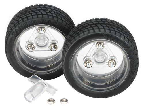 Tamiya 69916 Sports Tire Set 56mm Dia. Clear Wheels