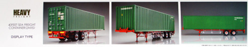 Aoshima 52907 40 Feet Sea Freight Container (2AXIS) 1/32 scale kit