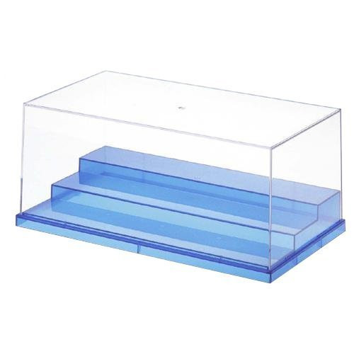 Wave Materials TC034 Plastic Clear Case for Display Models T-Case Stage Translucence Blue (L)