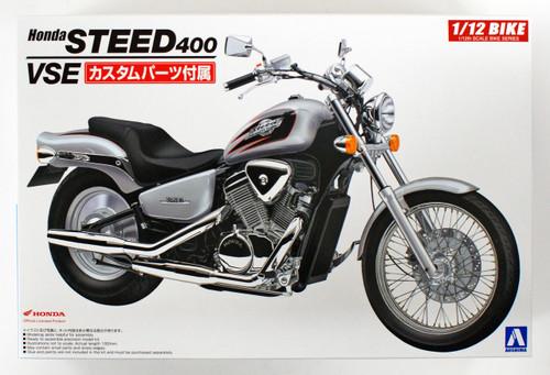 Aoshima 53980 Bike 44 HONDA STEED 400VSE with CUSTOM PARTS 1/12 scale kit