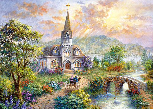 APPLEONE Jigsaw Puzzle 500-243 Nicky Boehme Beautiful Sunday (500 Pieces)
