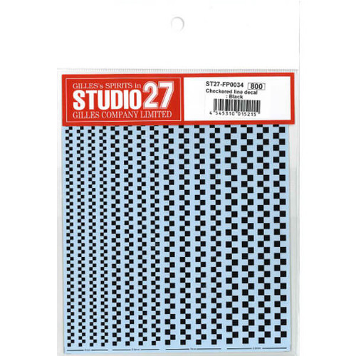 Studio27 ST27-FP0034 Checkered Line Decal : Black