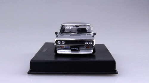 Aoshima DISM 80467 Nissan Skyline Custom Style Silver Metallic 1/43 scale model