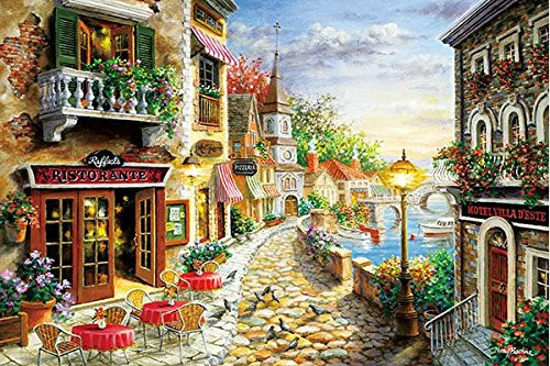 APPLEONE Jigsaw Puzzle 1000-810 Nicky Boehme Ristorante (1000 Pieces)